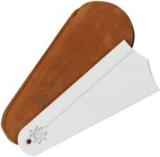 """New listing Spyderco Sharpener Golden Stone Dimensions: 5"""" x 1"""" Shaped Like A Duck's Foot"""