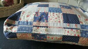 Pretty vintage patchwork ditsy roses bistro/garden/dining chair cushion covers