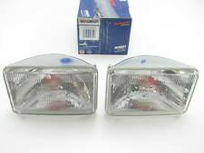 (2) Wagner H4651 Sealed Beam Headlight Headlamp Bulb - 12V 50W 100x165mm