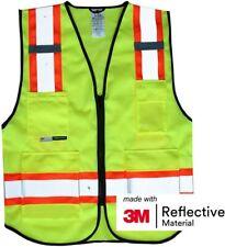 Salzmann 3M Multi-Pocket Safety Mesh Vest  High Visibility Reflective Mesh Vest