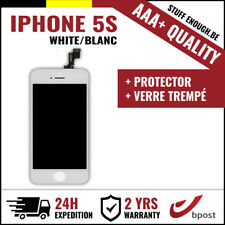 AAA+ LCD TOUCH SCREEN SCHERM ÉCRAN WHITE BLANC & VERRE TREMPÉ FOR IPHONE 5S
