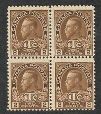 Canada Sc#MR4 M/3 H 1 NH/F, War Tax Block of 4 Type II, Cv. $137.50