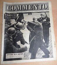 SETTIMANALE ILLUSTRATO PER TUTTI   COMMENTO  N°  46 1947  ORIGINALE !!!
