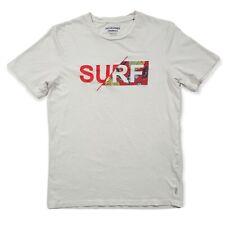 Jack & Jones Mens M SURF T-Shirt Short Sleeve White Sz Medium