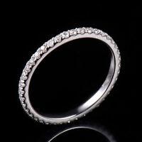 18ct White Gold Stunning Natural Full Eternity Diamond Ring VVS
