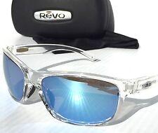 NEW* REVO HARNESS CLEAR w Blue POLARIZED Lens Sunglass RE 1027 09