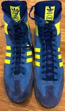 Vintage West Germany Wrestling Shoes Ringers Blue And Yellow Greco 80s Very Rare