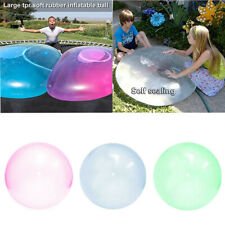 110cm Durable Bubble Ball Water Balloon Inflatable Outdoor Kids Toy Soft Glue US