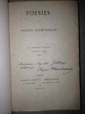 PROSPER BLANCHEMAIN / POESIES /masgana EO 1858 /reliure signée / DEDICACE