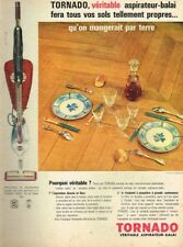 O- Publicité Advertising 1962 Aspirateur Balai Tornado
