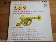 "TCHAIKOVSKY - DORATI - 1812 / CAPRICCIO ITALIEN 12"" LP - MERCURY - MMA 11057"