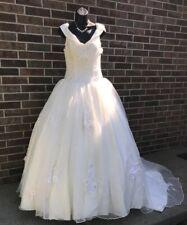 Custom Made Princess Wedding Gown (Ivory) With Train