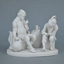Group en biscuit porcelaine de Saxe Scène de genre