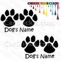 "2 of 5"" Custom Name Dog Cat Paws /B pets car bumper vinyl stickers decals diecut"