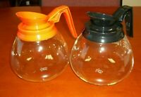 For BUNN - 2 Pk - 64 oz. Commercial Coffee Pot/Carafe/Decanter-Black&Orange-NEW
