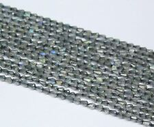 "Natural Blue Labradorite Faceted Tear Drop Briolette Beads Strand 14"" 3mm 4mm"