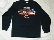 CHICAGO BEARS  - NAVY - T-SHIRT- LONG SLEEVE - LARGE - NFL - NWOT