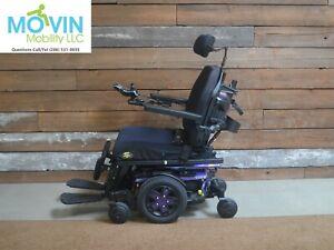 Quantum Edge 3 QLogic Electric Wheelchair w/ Power Tilt Recline Legrest 6 MILES!