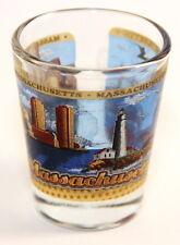 MASSACHUSETTS STATE WRAPAROUND SHOT GLASS SHOTGLASS