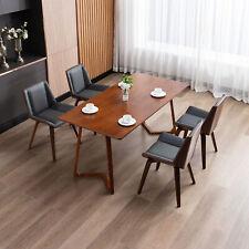 Hallo Home® 2er Esszimmerstühle Küchenstuhl mit Kunstleder & Massivholz Beine