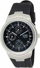 Casio Edifice Analog Black Dial Men's Rubber Strap Watch EF-305-1AV