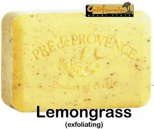 Pre de Provence LEMONGRASS 250 Gram French Soap Bath Shower Bar Shea Butter XL