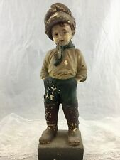 Antique Vintage Carnival Circus Chalkware Boy Statue Figure Like Father 15 in