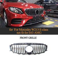 Front Grill Kühlergrill für Mercedes Benz W213 E-Class E300 16-19 W/Camera Hole
