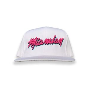 Miamian White 305 Miami Heat Dade County Black Snapback Hat Baseball Men Women