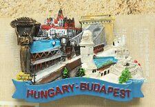 Hungary Budapest LÁNC HÍD Tourist Travel Souvenir 3D Fridge Magnet Craft GIFT