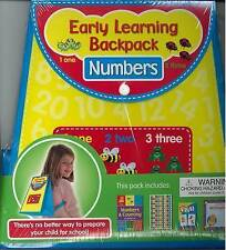 NEW SEALED - EARLY LEARNING BACKPACK - NUMBERS  workbook stickers cards certific