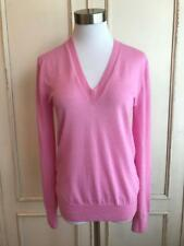 NWT JCrew $188 Italian Featherweight Cashmere V-Neck Sweater Size S Pink E9259