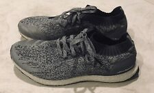 Adidas Ultra Boost Uncaged Grey Runner PrimeKnit Sneakers Shoes Size 12