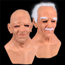 Halloween Party Realistic Old Men Latex Face Cover Headgear Masquerade Costumes