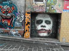 Hosier Lane street art graffiti urban Melbourne Gothic joker on quality canvas