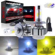 120W LED Headlight KIT Bulbs 3K Yellow 6000K White 10K Light Blue Hi/Low Beam H4