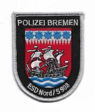 BREMEN Polizei Einsatzdienst NORD / S 908 Abzeichen  ca. 8 cm Patch BFE ESD Nord