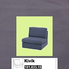 "IKEA Kivik One-Seat NEW Cover Ingebo Slate Gray""Dark Blue""Cotton Chair Section"