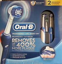New ! Oral-B Pro Care 2000 Dual Handle Rechargeable Toothbrush