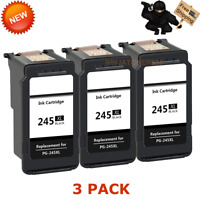 3 PK Canon PG-245XL Black Ink For PIXMA IP2850 MG2450 MG2520 MX490 MX492 TS3120