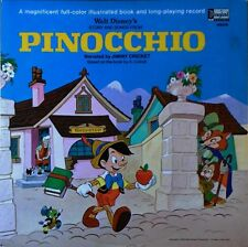 PINOCCHIO - JIMINY CRICKET - DISNEYLAND LP + 11 PAGE FULL COLOR BOOKLET - 1969