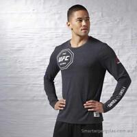 Reebok Men's Combat UFC Long Sleeve Shirt AJ9069 Black