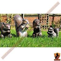 New Squirrel Bronze Resin Ornament Home Garden Ornament Indoor / Outdoor
