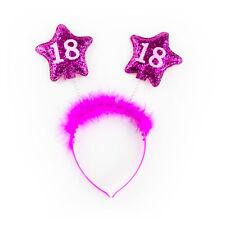 Haarreifen 18. Geburtstag Party Pink