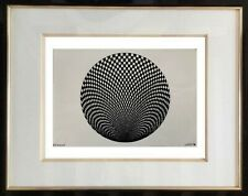 AUTHENTIQUE PEINTURE OP ART CINETIQUE EPOQUE 1970 SIGNEE LORETO  (3)