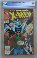UNCANNY X-MEN #245 (Jun 1989 | Marvel) PGX 9.4 (NM) Like CGC - White Pages