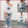 Vater Mutter Sohn Tochter outfits t-shirt mama Tochter Kaninchen boy girl