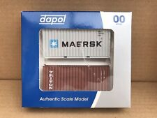 Dapol OO 00 Gauge  4F-028-051 20ft Container 2 Pack Maersk & Triton
