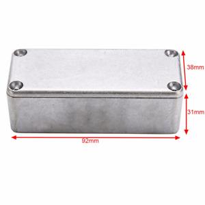 5Pcs Aluminum Pedal Enclosure Bottom Container Boxes for Guitar 1590A 92x38x31mm