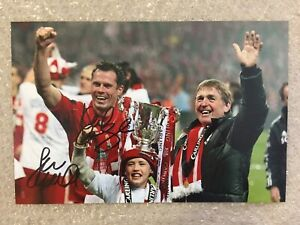 Genuine Signed Liverpool Picture By Jamie Carragher & Kenny Daglish